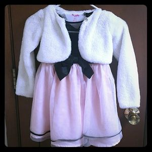 Holiday Editions dress with fury jacket